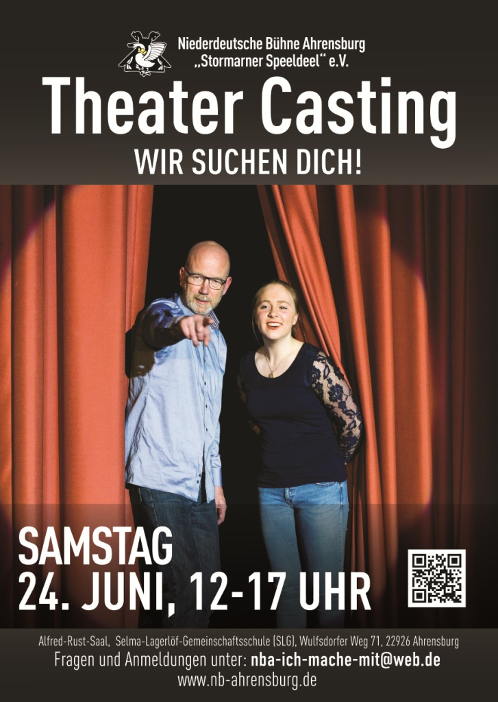 Plakat Theater Casting