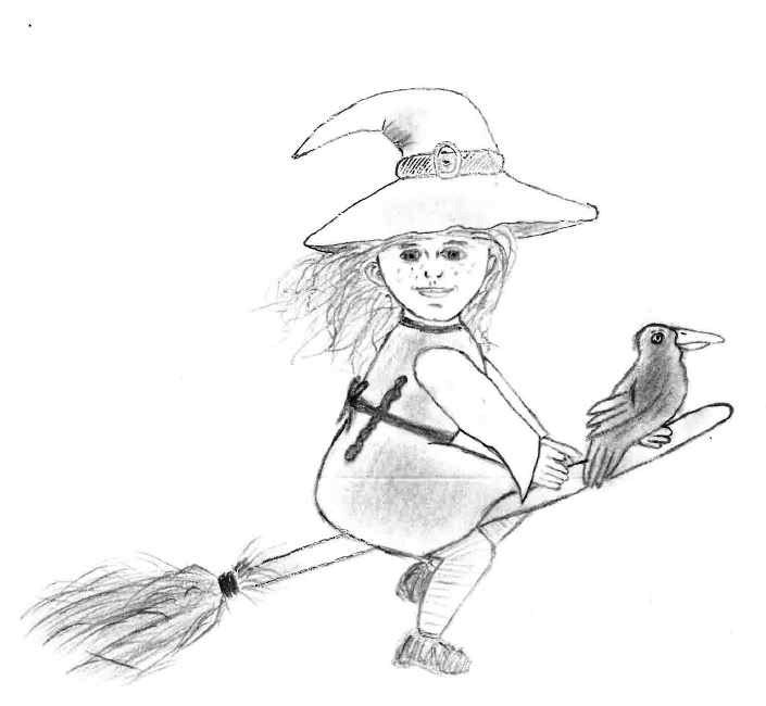 Die kleine Hexe_Zeichnung von Jennifer Klein